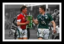BRIAN O'DRISCOLL & RONAN O'GARA AUTOGRAPHED SIGNED & FRAMED PP POSTER PHOTO