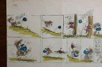 """Disney Studios Original Comic Strip Drawing of """"SCAMP"""" 6/25/78 by Bill Berg"""