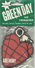GREEN DAY grenade 2005 AIR FRESHENER 2 PACK official licensed merchandise SEALED
