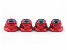 Traxxas Rustler VXL Wheel Nuts Red Aluminum 4mm (4) Stampede 2WD Grave Digger
