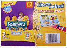 Pampers Progressi Quadri Pannolini Mini Taglia 2 (3-6 kg) - 112 Pezzi - Multicolore