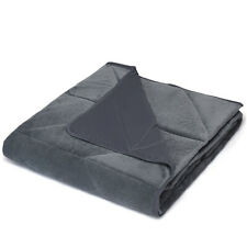 15lbs Weighted Blanket Queen/King Size Crystal Cool Velvet Fabric w/ Glass Beads