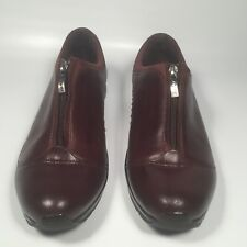 Ariat Brown Leather Front Zipper Shoes Stable Cushioned Women 6B