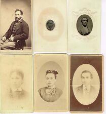 1860's - 1880's Mainly Glens Falls NY Family 14 CDVs & 2 Ferrotypes