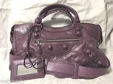 Authentic BALENCIAGA FW 2010 Murie Purple Part Time Covered Hardware City