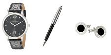 Montblanc Star Classique Black Dial Men's Watch Pen Cufflinks Set 108769