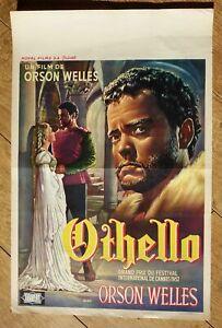 OTHELLO Orson Welles original belgian movie poster '52