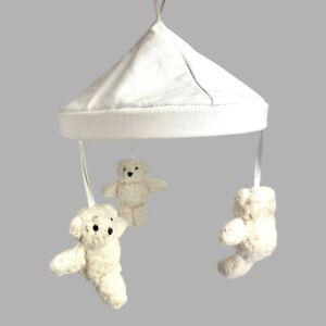 Pottery Barn Baby Kids White Sherpa Bear Crib Mobile