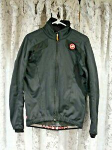 CASTELLI Thermal Jacket ~ Men's LARGE ~ Gore Wind Stopper ~ VG Used Cond.
