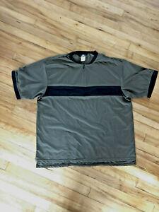 Bellwether Cycling Jersey Men's Half-Zip Brown Waffle Pattern Knit Shirt  XXL