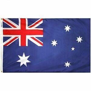 5ft X 3ft Australian Flag Australia Day Aussie National Sports Supporter Party.