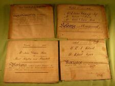 Antique Vellum Indenture Document 1818 The Manor of Little Woolton Inquisition