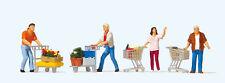 Preiser H0 Art.Nr. 10722 Kunden mit Einkaufswagen  Neuheit!