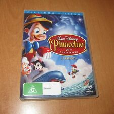 Disney : Pinocchio - 70th Anniversary DVD , 2 Disc Set Region 4 ( Very Good )