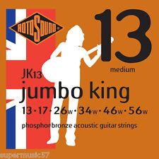 Rotosound JK13 Jumbo King Phosphor bronze acoustic guitare strings 13-56 medium