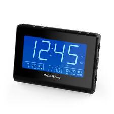 Magnasonic Alarm Clock Radio with USB Charging for Smartphones, Dual Alarm