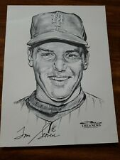 Tom Seaver Autosigned Print New York Mets 1969 Daily News Stark 12x9 inch