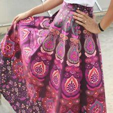 Indian Vintage Long skirt cotton Sarong Maxi Dress Bohemian Rajasthani Wrap