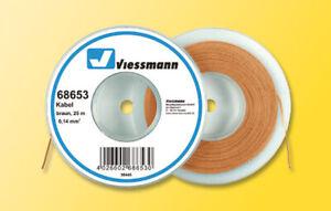 Viessmann 68653 Kabel, 0,14 mm², braun, 25 m, Grundpreis 1 m = € 0,16