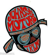 JOHNSON MOTORS MOTORCYCLE Vinyl Decal Sticker TRIUMPH HARLEY DAVIDSON BSA ARIEL