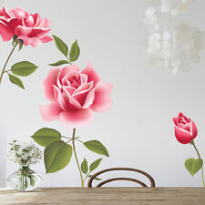 Rose Flower Wall Stickers Decals Removable Home Room Decor Mural DIY Art Craft