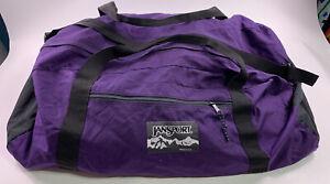 VTG Jansport Large Duffle Bag Shoulder Strap Made in USA Purple & Black 80s 90s