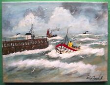 Longshore Boat Norfolk : Oil Painting : Peter J Hadden : Give Fine Art