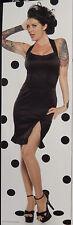 LIP SERVICE PIN ME UP BLACK HALTER DRESS NWT S #83-6-08
