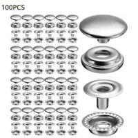 100Pcs Silver Buttons Stainless Steel Fastener Snap Press DIY Stud Button X1D7