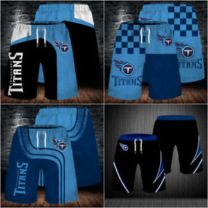 Tennessee Titans Men Beach Board Shorts Quick Dry Swim Trunks Soft Bathing Suits