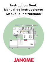 Janome 1100D Manual COLOR Reprint Instructions User Guide 1100D Professional