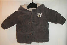 Gorgeous TU 0-3 Months Baby Brown Jacket With Bear Hood Very Cute - Free P&P