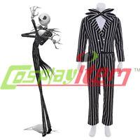 The Nightmare Before Christmas Cosplay Jack Skellington Stripe Costume halloween