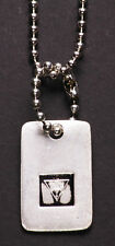 Traditional Army Tag Style Engraved Pendant Chrome Metal Necklace(Zx153)