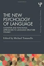 The New Psychology of Language: Cognitive and F, Tomasello Paperback-,