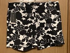 The Limited Basic Tailored Shorts Floral NWT Black & White size 12