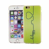 Téléphone Housse Pour Apple IPHONE 6/6s Be Happy Sac Vert Couvercle Motif Slim