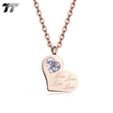 Love Heart Necklace (Np365) 2018 New Quality Tt 9K Rose Gold Stainless Steel