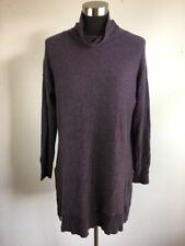 Soft Surroundings Tunic Sweater M Purple The Metro Hi Lo Cotton Wool Cashmere