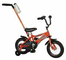 Kids Boy Bike 12 Inch Push Handle Bicycle Children Training Wheels Fun Riding