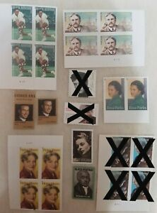 18x Interesting Forever Stamp Celebrities Famous People Stamps Postage Mint MNH
