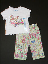 Childrens Place NEW Green Floral Pants & Top 2 Piece Outfit Girls 6-9M