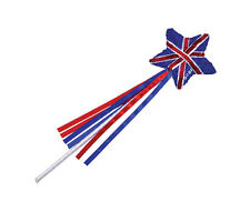 Union Jack Britain Sequin Wand Red Blue White Fancy Dress Adult Accessory