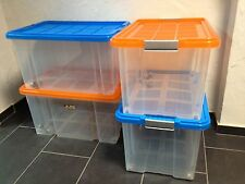 4 X Unterbettkommode Aufbewahrungsbox Stapelbox Eurobox 60 X 40 X 30 CM Neuware