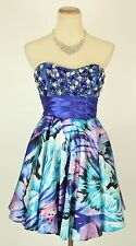 Masquerade Blue $100 Evening Prom Formal Cruise Short Cocktail Dress size 7 NEW