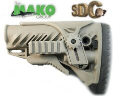 MAKO FAB DEFENSE RIFLE BUTTSTOCK STOCK BATTERY STORAGE CHEEK RISER GLR16-PCP TAN