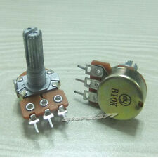 5pcs B10K Linear Taper Rotary Potentiometer  High Quality