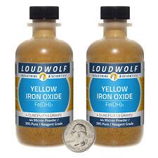 Iron Oxide Yellow 8 Oz 2 Bottles 99 Pure Reagent Grade 44 Micron Powder