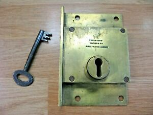 CHUBB BRASS LOCK. RARE BY APPOINTMENT TO PRINCE ALBERT. FULLY WORKING AND KEY.
