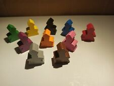 Carcassonne abbot meeples basic and special color meeple